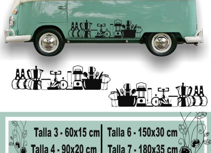 f16457cccdd Vinilos decorativos para autocaravanas y furgonetas de utensilios camping